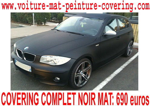 bmw serie 1 covering noir mat bmwnoirmatpeinturecovering. Black Bedroom Furniture Sets. Home Design Ideas